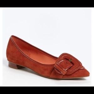 Via spiga burnt orange pointed flats 8 1/2